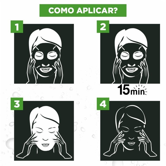 mascara facial carvao